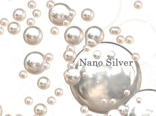 Silver nanoparticles are nanoparticles of silver of between 1 nm and 100 nm in size.